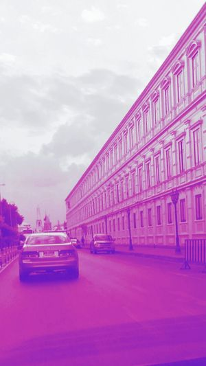 Pink Color Purple Car Transportation Business Finance And Industry City Outdoors Architecture No People Sky Day Bangkok Thailand.
