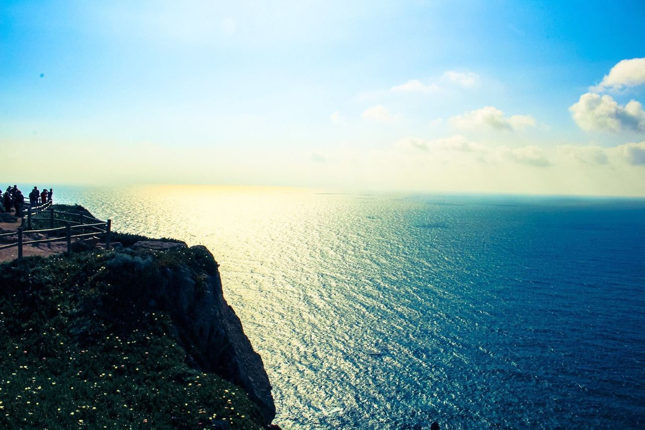 The Journey Is The Destination Cabo Da Roca See The World Through My Eyes MyPhotography Picoftheday Sea And Sky Endlessness All Shades Of Blue Eyemphotography Eye4photography  Pictureoftheday Cliff Photooftheday Sunny Day