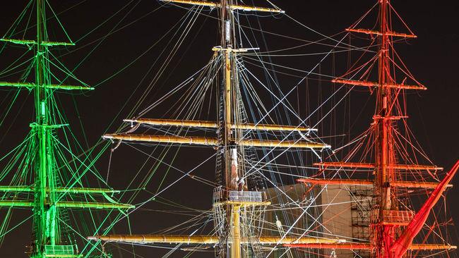 #amerigo Vespucci #Italia #napoli #vesuvio Illuminated Night Outdoors Sky Tourism Travel Destinations