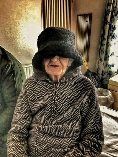 Not My Pic My Edit✨✌ My Mum ♥  Mother Mature Adult Senior Adult Just For Fun😊 Laughs Old But Awesome Hat Hat Size To Big To Fit In The Frame Great Grandmother 83 83yrs Young At Heart Cancer Survivor Shine Bright Like A Diamond  Popular Photos People Photography Uniqueness Break The Mold BYOPaper! EyeEmNewHere