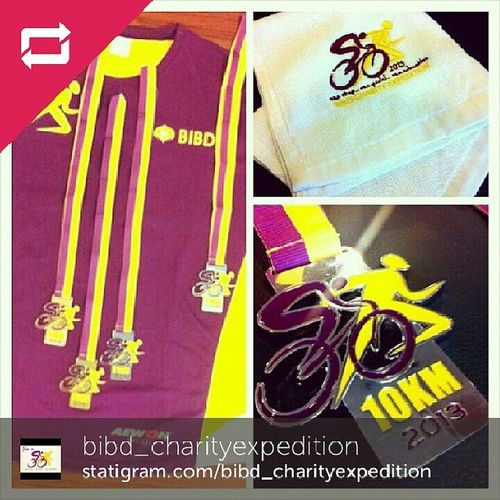 Repost from @bibd_charityexpedition: Sneak peek!! Official merchandise items for BIBD Charity Expedition for ALAF happening on 24th November 2013. All registered participants will get an exclusive event Tshirt, a face towel and certificate of participation respectively. Register until 31st October 2013 via online or download the form from www.bibdcharityexpedition.com. Finishers medal will only be given to competitive events. Spread the love peeps! Bibd Bibdcharityexpedition Bibdcealaf2013 Brunei Andrography InstaBruDroid Weekend
