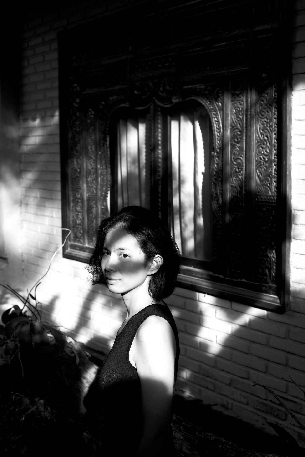 bali mornings Asian Girl B&W Portrait Bali Bali, Indonesia Balinese Architecture Beautiful Nature Beautiful Woman Black & White Chasinglight Indonesia_photography Lifestyles Light And Shadow Looking At Camera Makeportraits Makeportraitsnotwar Monochrome Moody Portrait Natural Light Portrait Nikonphotography One Person People Portrait Real People Young Adult Young Women