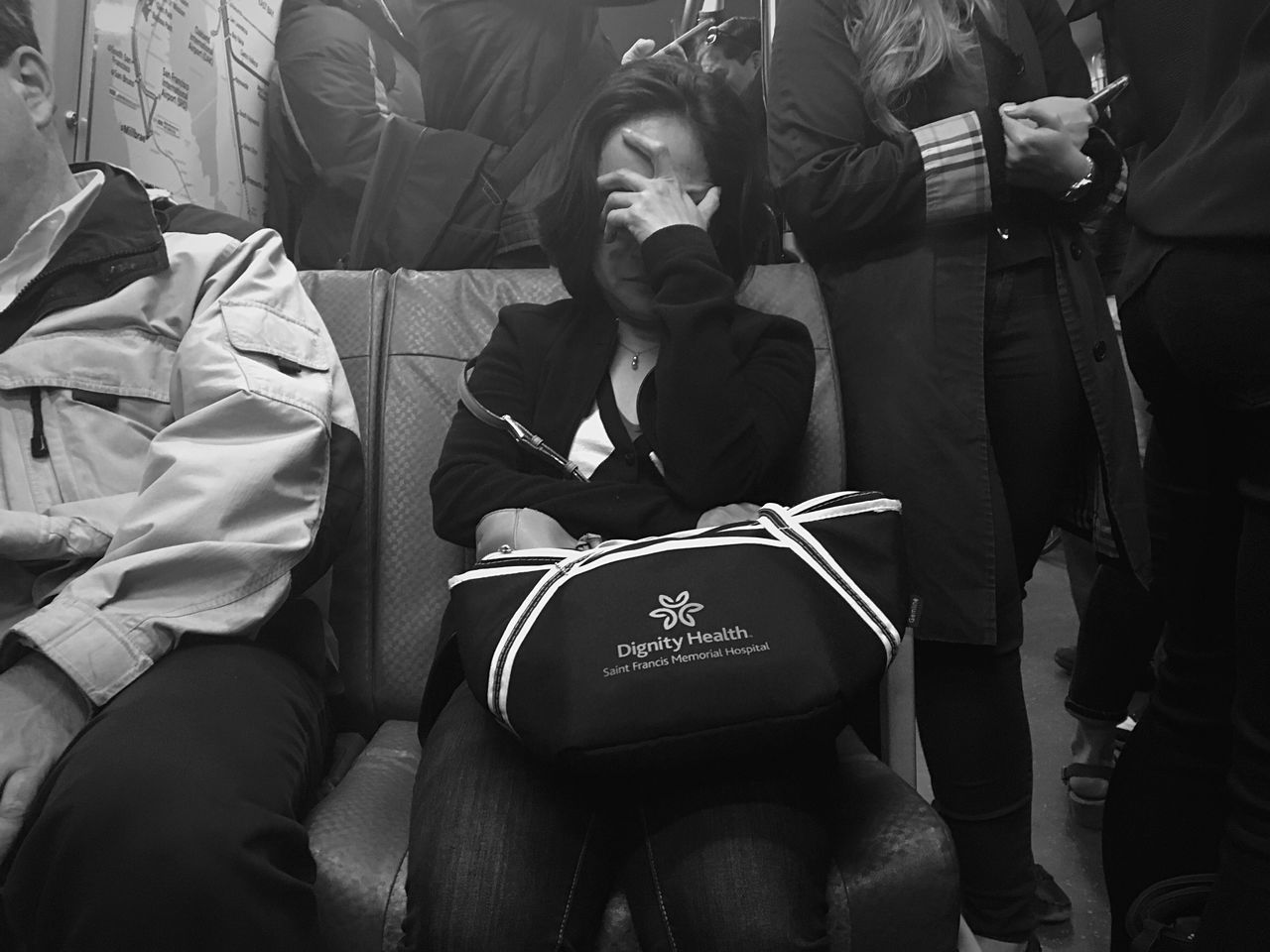 A collective sigh in America. Real People One Person People Adult Public Transportation Nap Rest Rush Hour Commute Commuter Streetphotography Street Photography Candid
