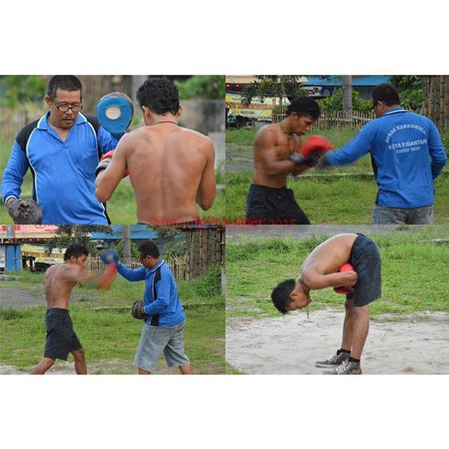 Formed a great boxer took a hard workout....Pertina Simalungun Petinju Boxing Sport WBA ....