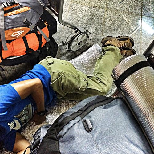 Airport Sleeping Vacation Funny