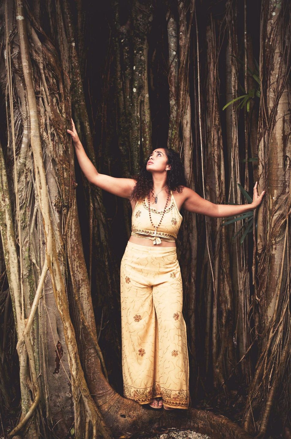 Self Love. I see myself in everything. I Am Tree. Fashion Beauty Forest Beautiful People Nature Elégance Make-up Fashion Model Tree Arts Culture And Entertainment WoodLand Glamour One Person Women Beautiful Woman One Woman Only Only Women Beauty In Nature Curly Hair Serene People Bindi Saree Consciousness Tree Shaman EyeEmNewHere