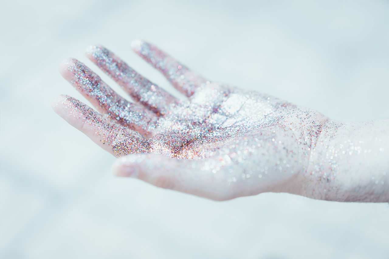 Human Body Part Human Hand One Person People Adult Close-up Glitter BYOPaper! Bright Frozen