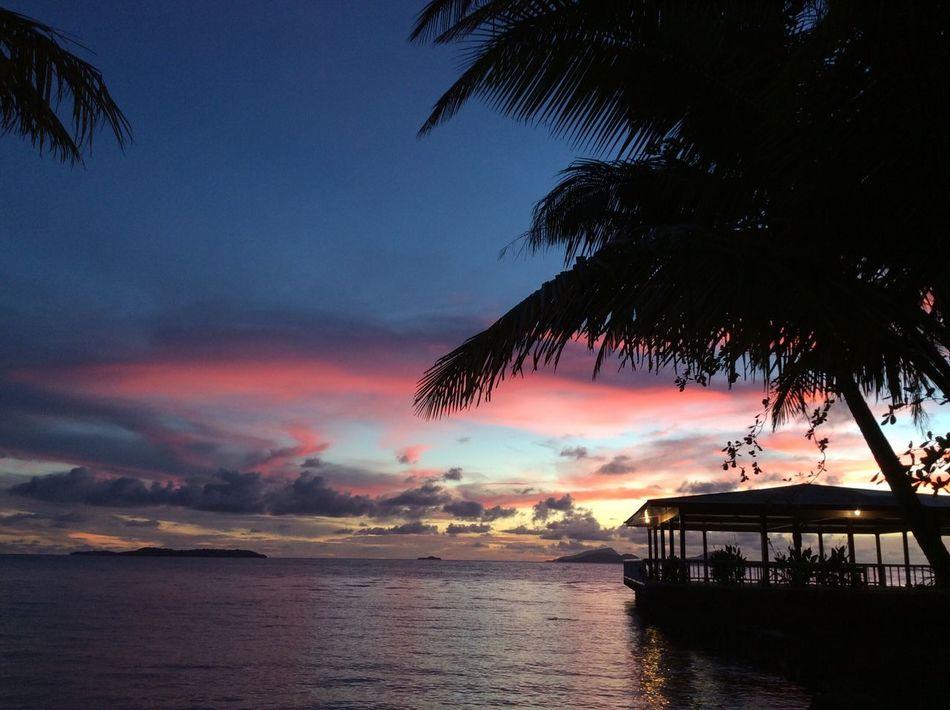 Sunset Beach Horizon Over Water Ocean resort