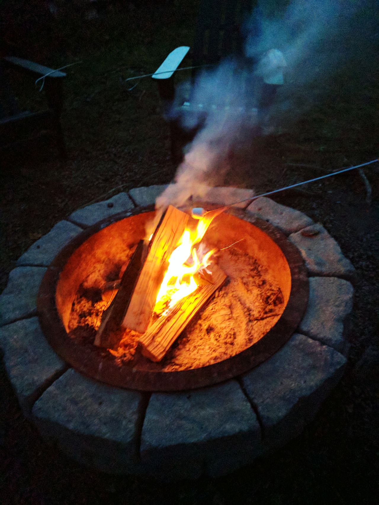 Heat - Temperature Burning Flame Glowing Smoke - Physical Structure Fumes No People Metal Industry Cast Iron Night Molten Outdoors Foundry Fire Firepit Nature