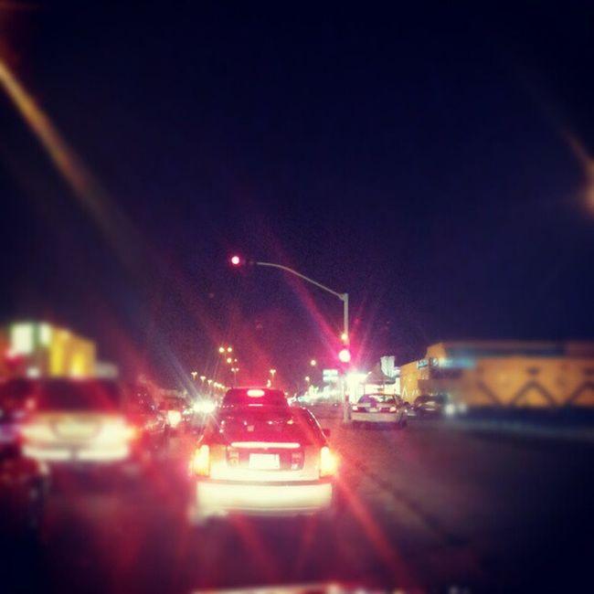 اشارة مرور الليل انوار تصوير جوال الرياض الربوة مخرج Traffic signal lights night photography RiyadMobile Knoll Exit 14