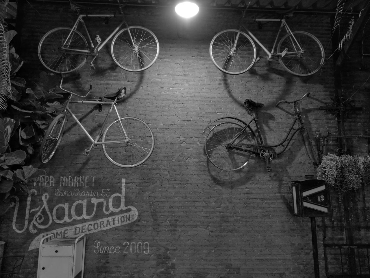 Bicycle Back And White Monochrome Huawei P9 Plus