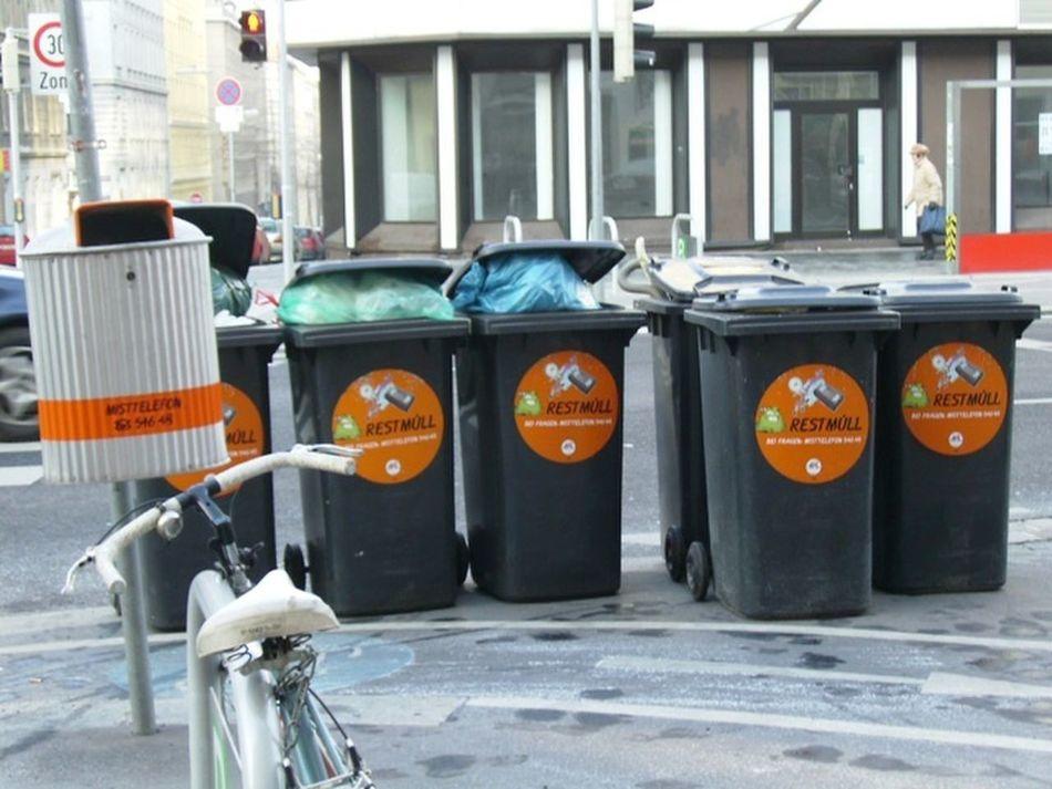 Street Photography Mülleimer Mülleimer Der Stadt Wien 2006