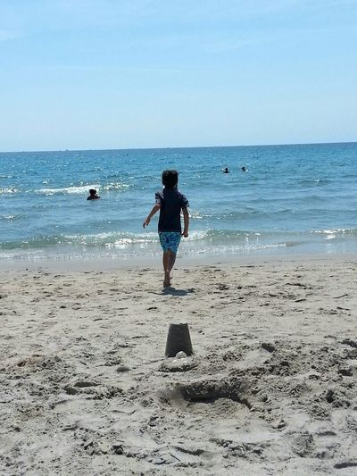 Little boy running on the beach into the ocean. Beach Photography Beach Life Boy Running Running On The Beach Ocean The Following