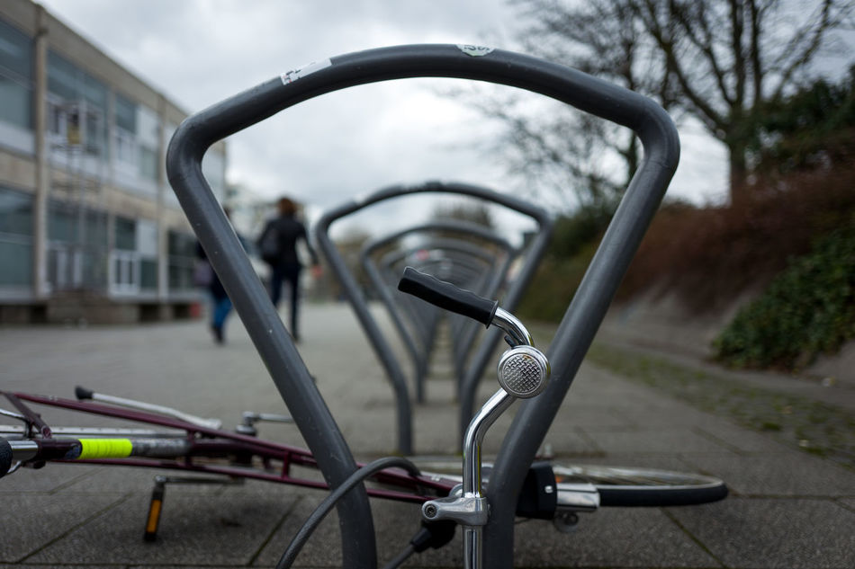 Bicicle Close-up Day Focus On Foreground Golf Club Handlebar Land Vehicle Metal Mode Of Transport No People Outdoors Side-view Mirror Sky Transportation Tree Vehicle Mirror