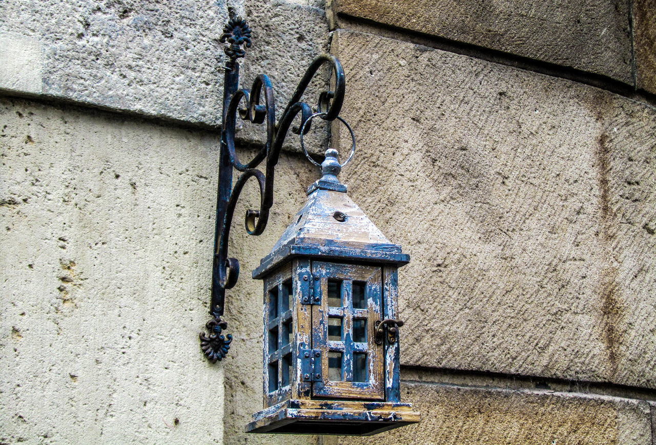 Old Lantern Hanging From Building
