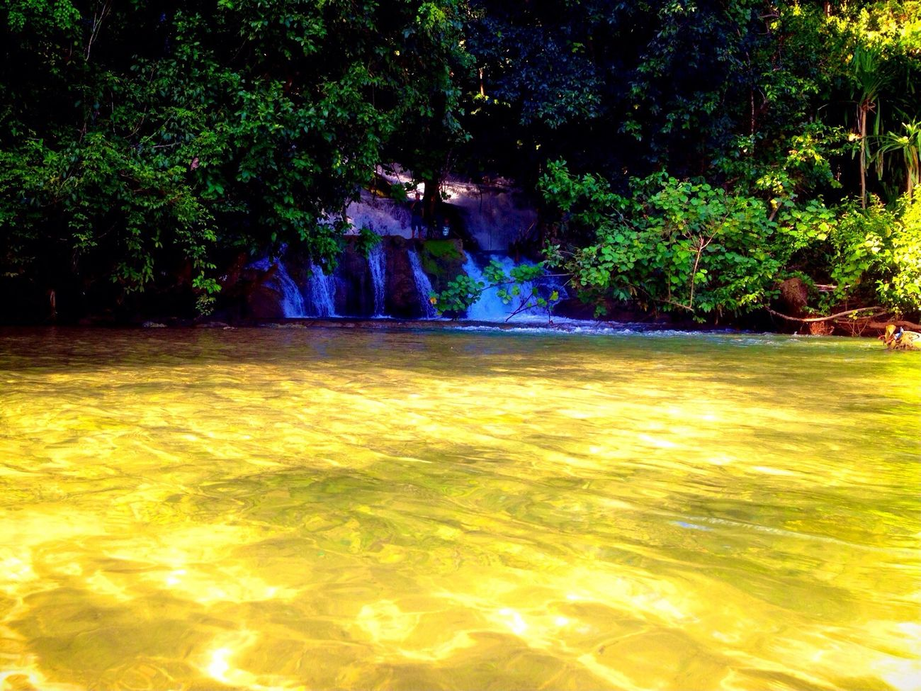 Waterfall on beach ( Air Babunyi ) ...SouthBuruIsland_Maluku_DocumentaryFilming Taking Photos Popular Photos Nature Work