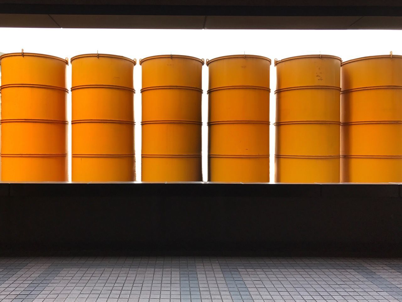 Silos Yellow Construction Site Architecture No People Urban Geometry Urban Exploration What Who Where Yellow Silos In A Row, Side By Side, Chance Encounters Fresh on Market 2016 The Architect - 2017 EyeEm Awards