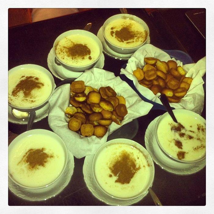 Perfect finish to a saturday dinner! Enjoying Sweet Yummy Sahlab at ehden under the rain! ☺?❤