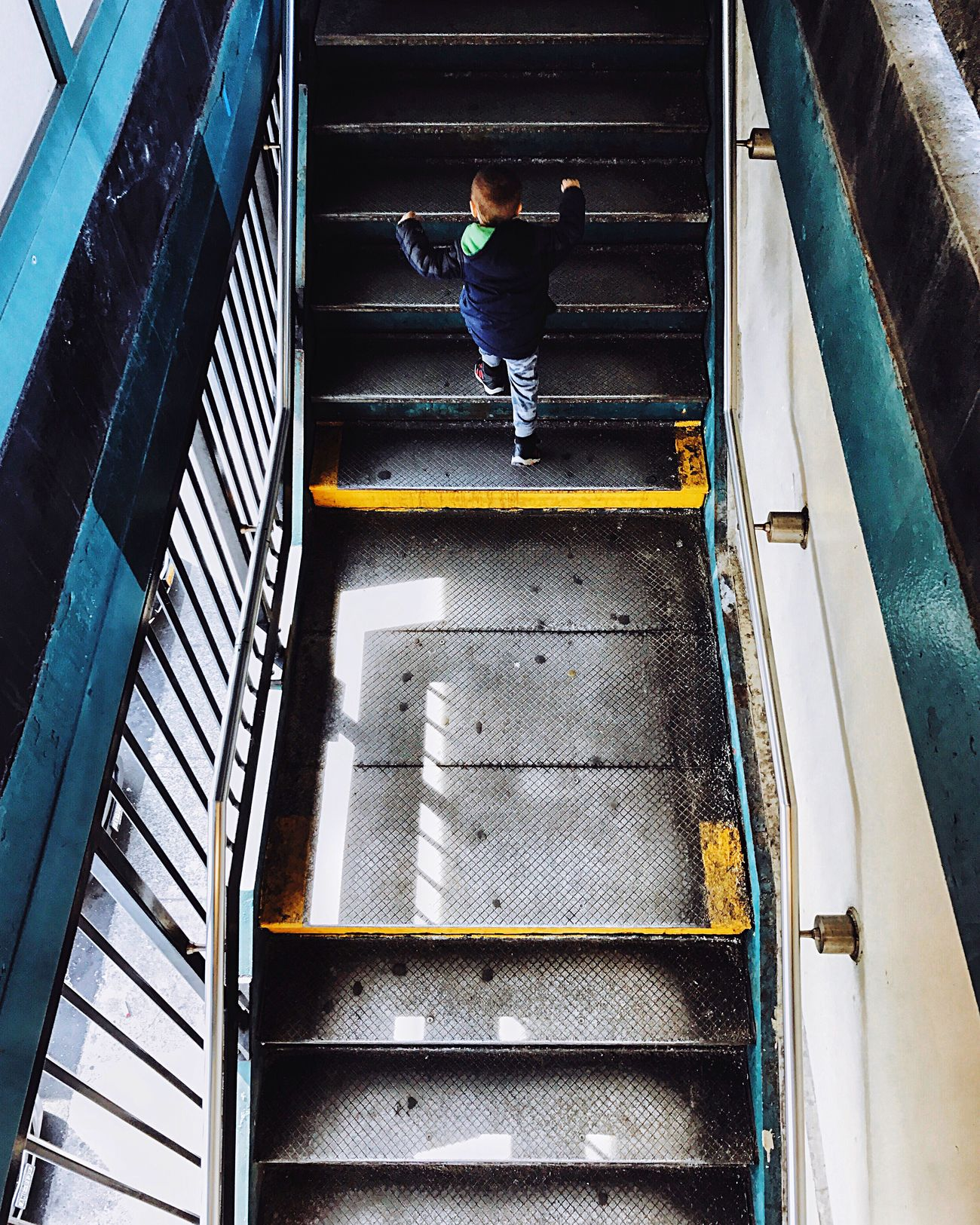 People streetphotography One Person Steps candid Full Length Real People Lifestyles Casual Clothing High Angle View Steps And Staircases Railing Rear View Leisure Activity Staircase Outdoors Day Architecture First Eyeem Photo