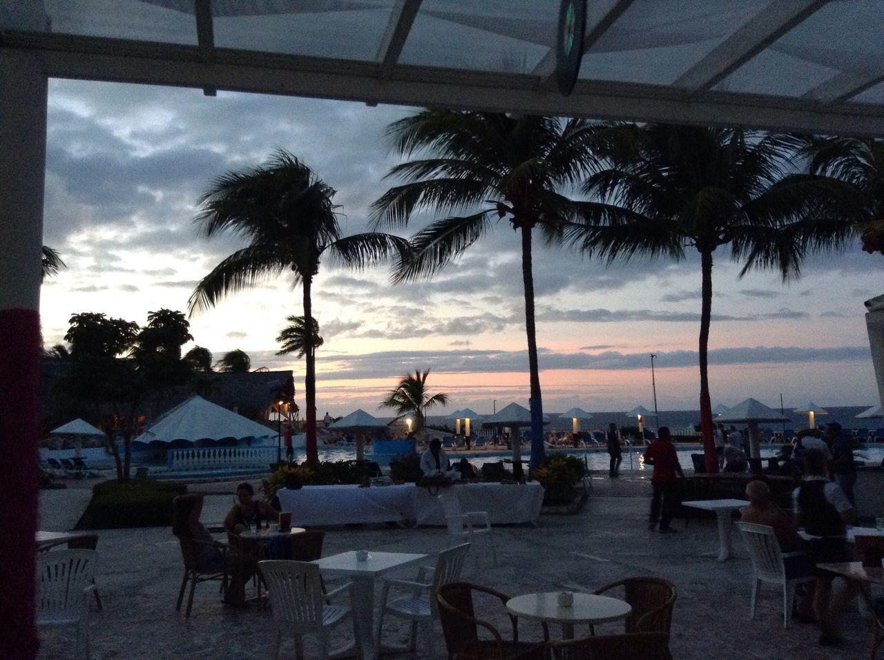 Cuba Caribbean Sky Sunset Pool Palm Trees