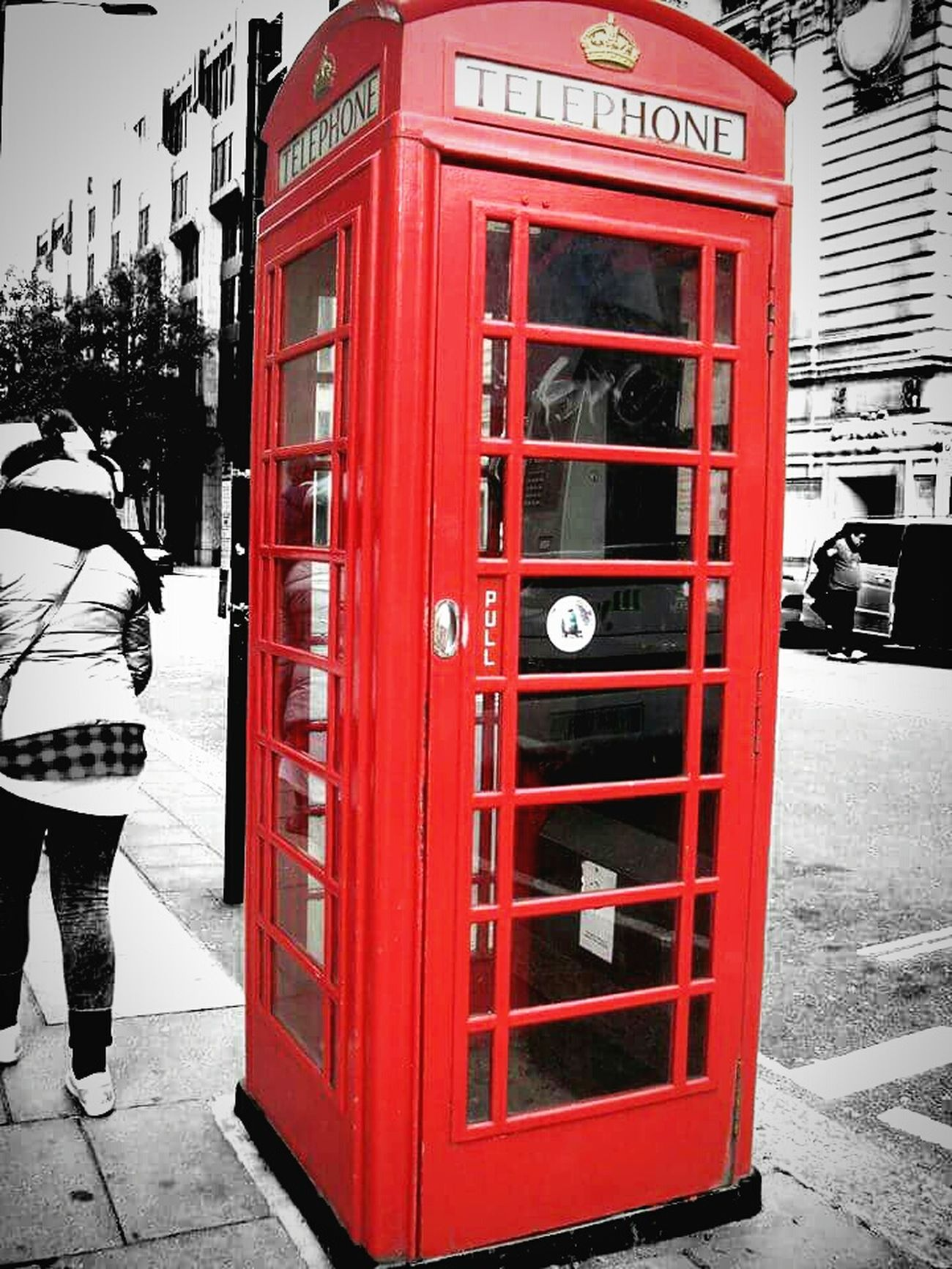 Outdoors Day Telephone Booth Architecture No People Red Blackandwhite Focus On Foreground Photography ♥ Light Effect EyeEm Gallery EyeEm Best Shots - Nature London London Streets Hobbyphotography Photos Around You EyeEm Photomania Cultures City Architecture