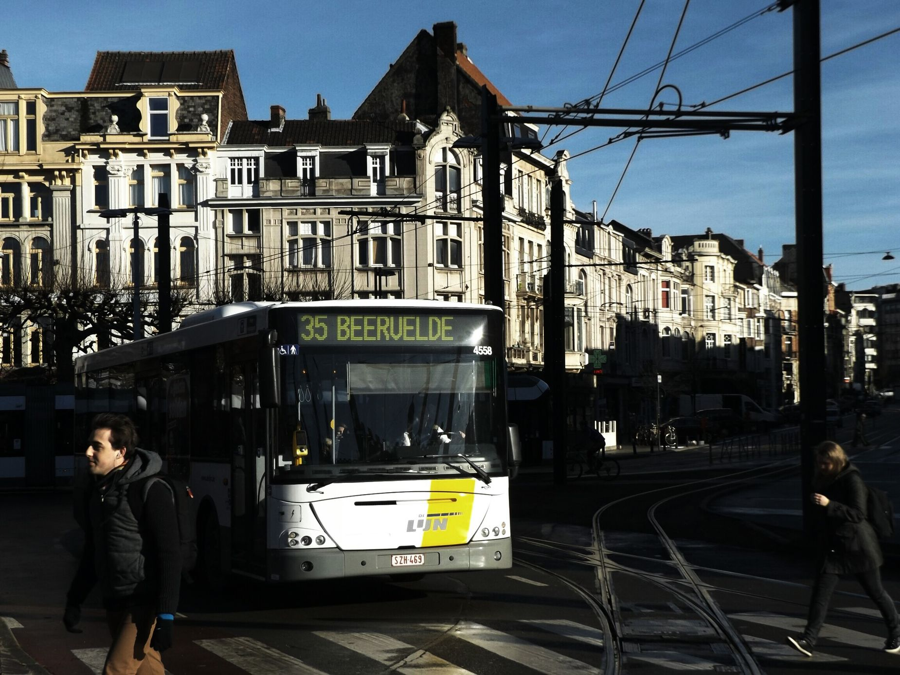 Streetphotography Shadows & Lights Everybodystreet Architecture Tramway Bus Blue SkyGhent Gand Gent, Belgium