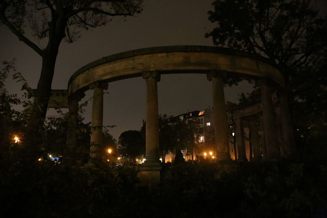Arch Architecture Built Structure Historical Historical Artifact Night No People Outdoors Park