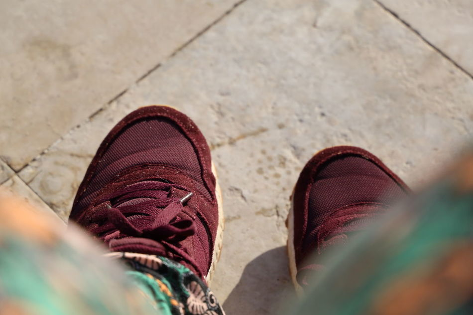 Bordeux Close-up Day Hammametcity High Angle View Holiday Human Body Part Human Leg Low Section Nike One Person Outdoors Pair People Real People Rede Selective Focus Shoe Sneaker Sneakers Tune Tunesia