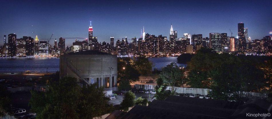 The EyeEm Facebook Cover Challenge Urban Landscape New York Night Lights NYC skyline, from a rooftop in Brooklyn.