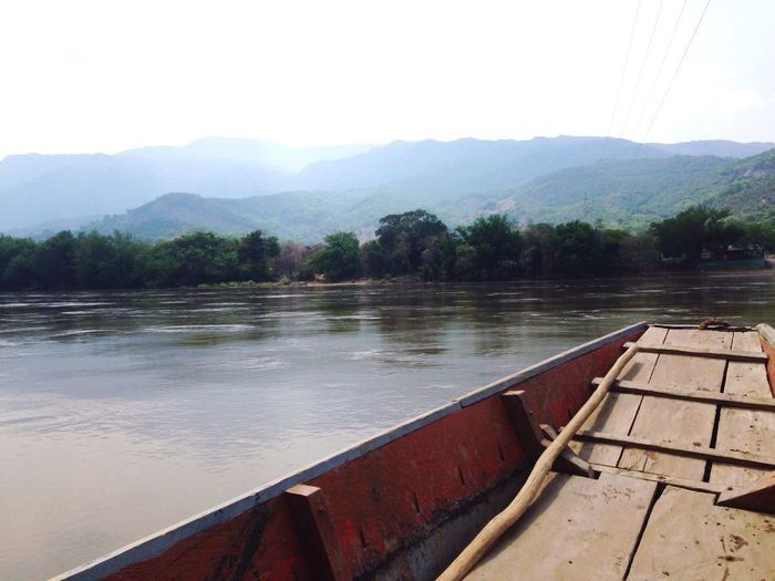 Rio Magdalena Tolima Colombia Barco Boat River View Mountains Water Landscapes With WhiteWall Be. Ready.