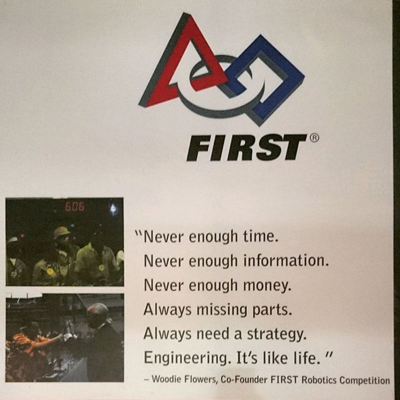 Engineering is Life. First FTC  FLL Frc Robotics