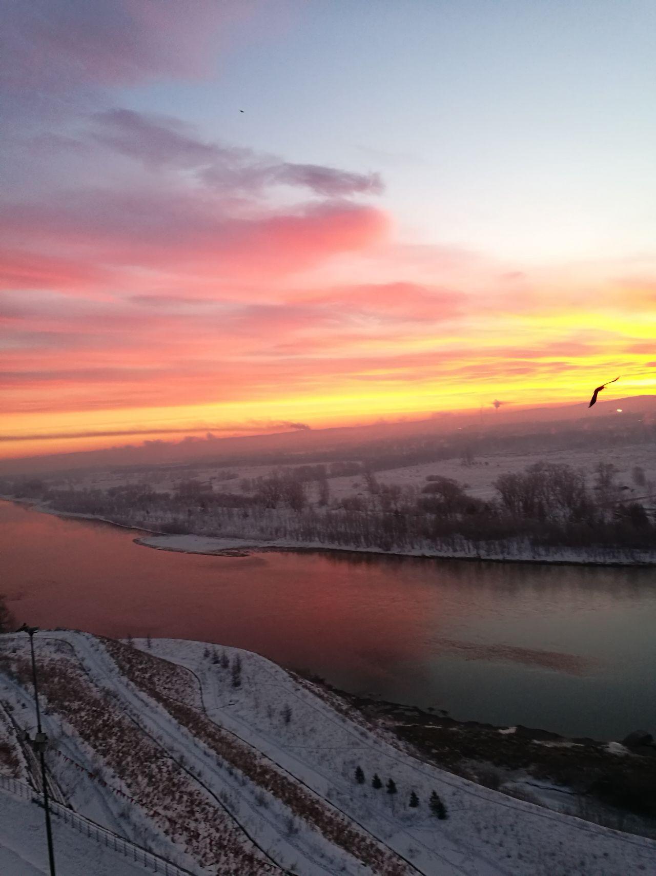 Romantic Sky Nature Енисей рассвет красноярск First Eyeem Photo