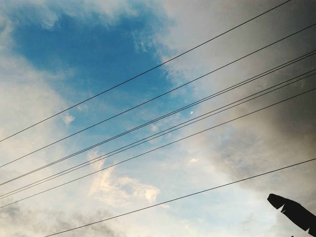Cable Sky Low Angle View Power Line  Outdoors Electricity  Cloud - Sky Sunset Nature Beauty In Nature Moon Crescent Moon Lenovo Photography Assam, India Beauty In Nature Art Is Everywhere EyeEmNewHere Beautiful Picoftheday Naturelovers