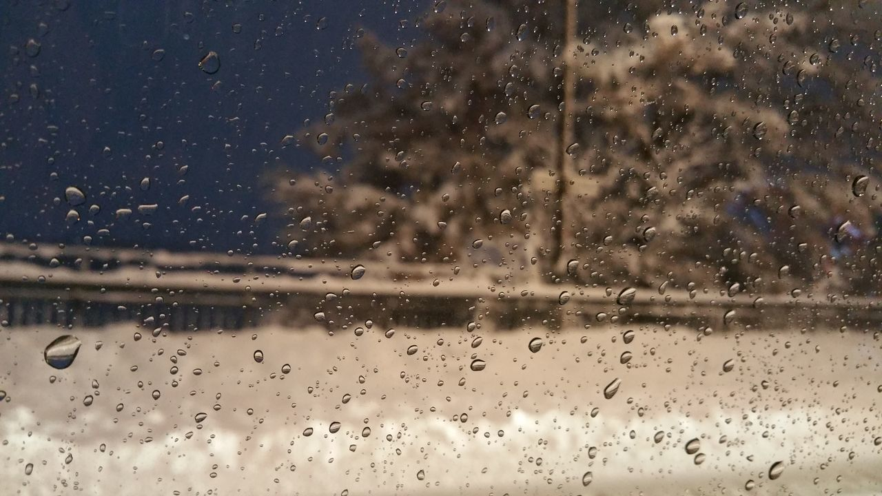 Backgrounds Blizzard Close-up Day Drop Full Frame Nature No People Outdoors Rain RainDrop Rainy Season Sky Snow Transparent Water Wet Window