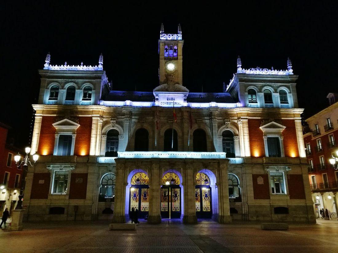 Night Architecture City Illuminated Building Exterior No People Government Valladolid Plaza Mayor Ayuntamiento Valladolid