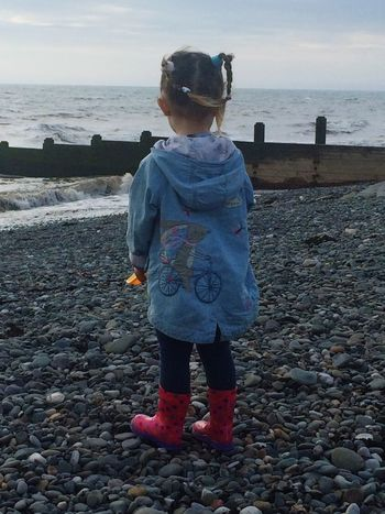 This is my daughter at the seaside earlier this year Daddy's Girl Daughter Family Myworld MYeverything Happydaddy By The Seaside Sea Englishbeaches Beach Life Beachphotography Sea View