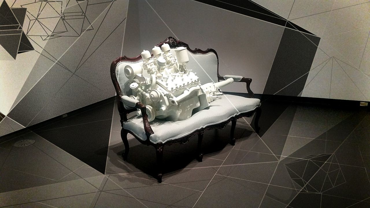 Wish I actually could afford a dslrCeramic Art Ceramic Art Couch Victorian Installation Art White Grey Engine Motor Big Block Carburetor Followme Buymeacamera Mailmeacamera Canada Samsungphotography Artshow