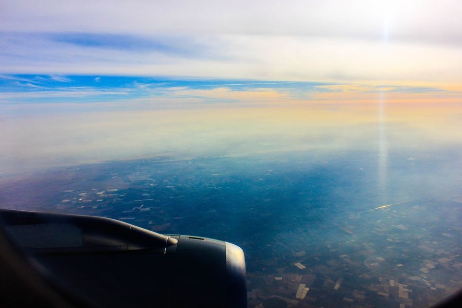 Above Alexandria, by me ✋🏼 Airplane Journey Aerial View Transportation Airplane Wing Mode Of Transport Air Vehicle Travel Cloud - Sky Flying Beauty In Nature Nature Sky Aircraft Wing Scenics Mid-air Sea No People Day