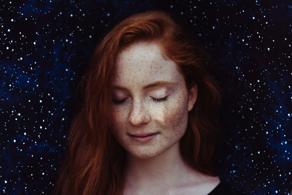 Adult Adults Only Beautiful Woman Beauty Close-up Eyes Closed  Happiness Headshot One Person One Woman Only One Young Woman Only Only Women Outdoors People Portrait Redhead Sky Smiling Young Adult Young Women