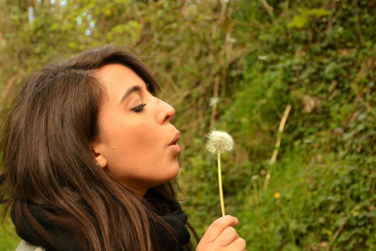 Me, again. Young Women One Person One Woman Only Headshot Outdoors Flower Playing Close-up Hallerbos Bois De Hal Italian Girl Nature Belgique Belgium Me Myself Forestwalk EyeEm Nature Lover Young Adult I Blowing Loud  Blowing