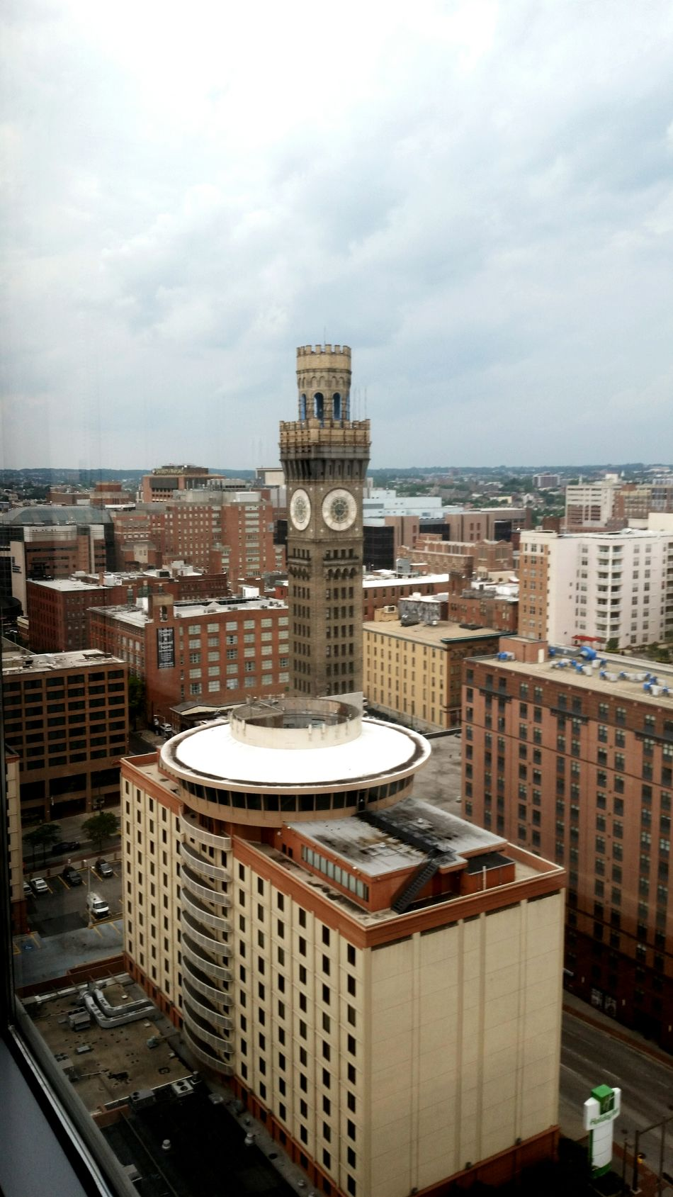 View from the 18th floor. Baltimore Baltimore Clock Tower Baltimore Maryland Baltimore Harbor BaltimoreCity Baltimore City Cloudy Clouds And Sky Cloudy Day Cloudy Skies Clock Tower Clocktower Clock Face Storm City