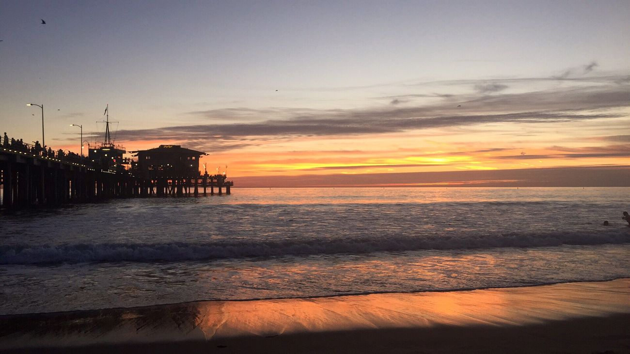 Beautifully Organized Layers And Colors Sunset Sea Sky Beach Horizon Over Water California Sunset_collection Beachphotography