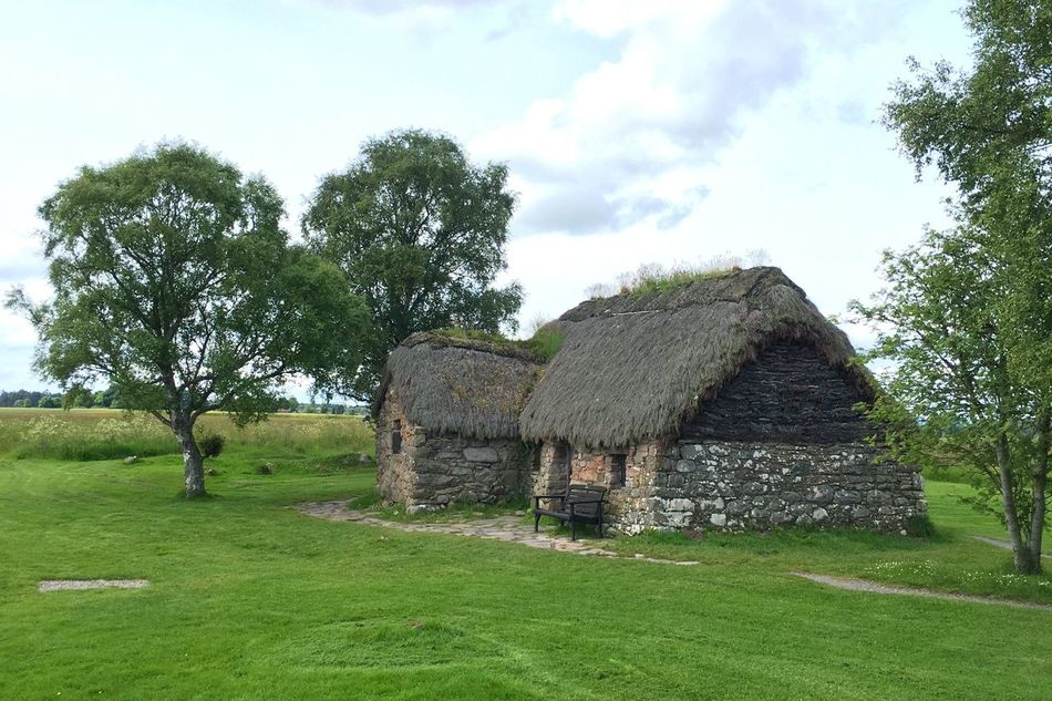 Scotland Scottish Highlands Culloden Culloden Battlefield Cottage Farm Farmhouse Idyllic Scenery Ancient Architecture Ancient Architecture