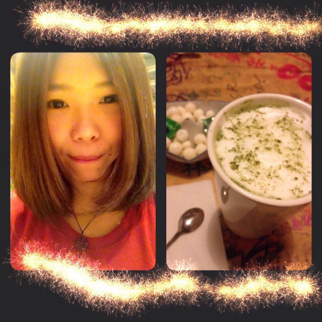 Cafe Latte Hi! Hello World Enjoying Life