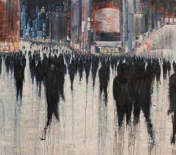 Alone Art Art, Drawing, Creativity City Column Dramatic Drawing Drawing ✏ Fear Illuminated People Sadness Weekness
