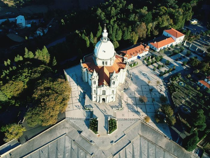 Portugal Braga Church Skyview High Angle View Day Outdoors Priest Relogion Catolic Real People Tree Shadow Full Length One Person Men Only Men People Water One Man Only Adult Nature