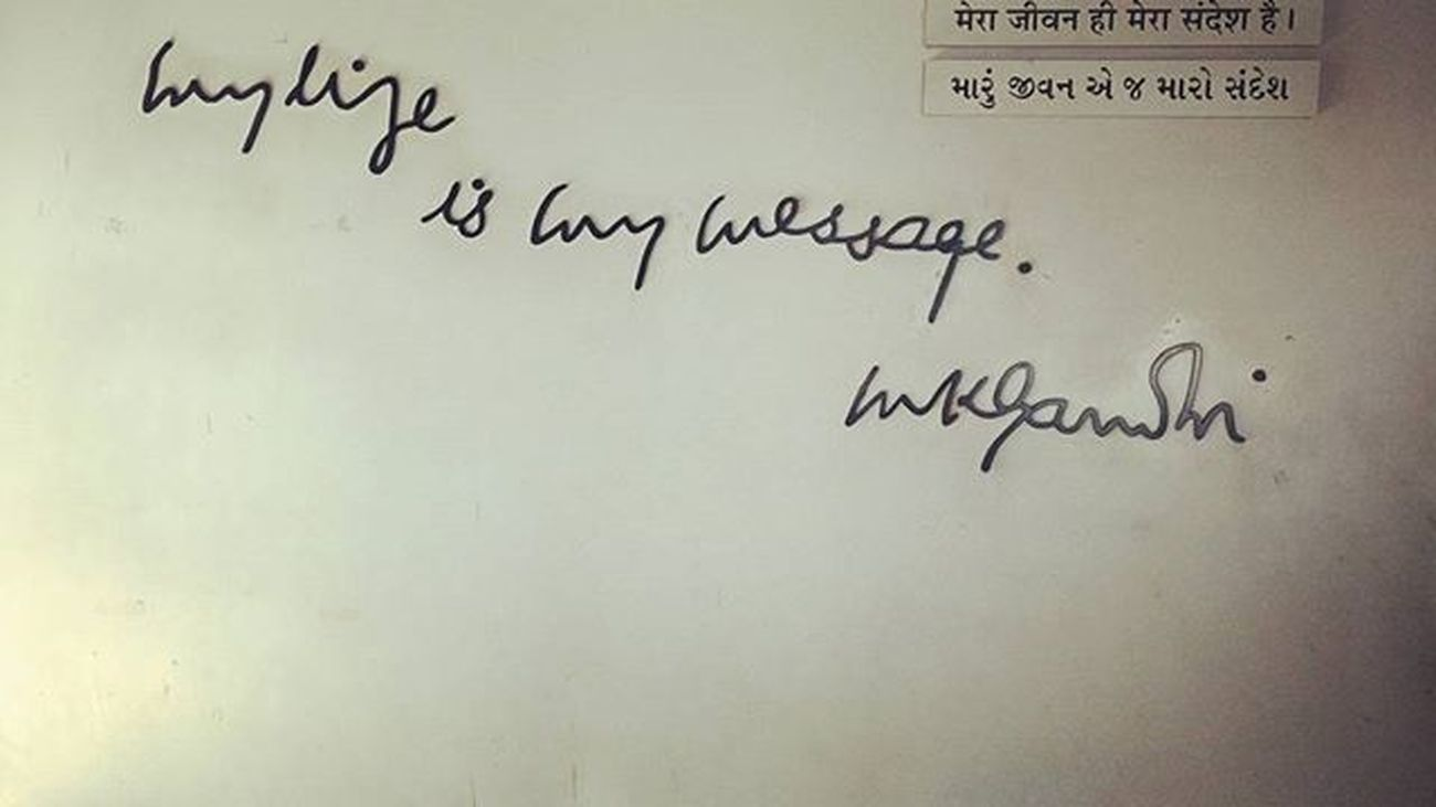 My life is my message -MK Gandhi Fatherofnation Freedom Nonvolience Patriotic India