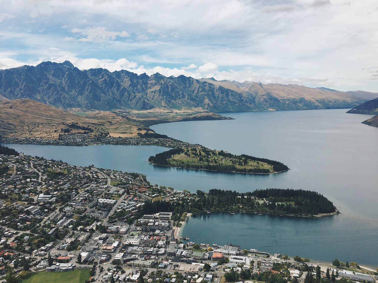 Water Sea Sky Mountain Beauty In Nature Nature Scenics Day Outdoors No People Scenery Bay Queenstown New Zealand