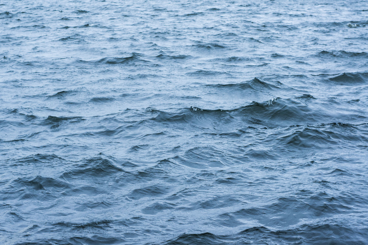 Water surface texture with waves Backgrounds Beauty In Nature Blue Close-up Day Full Frame Nature No People Outdoors Rippled Sea Water Wave