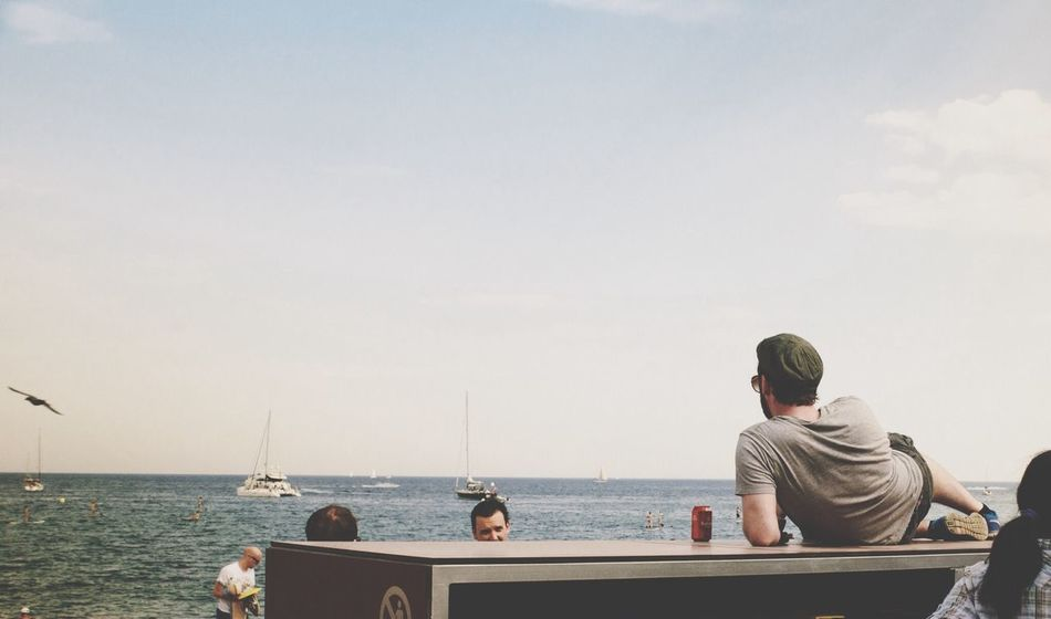 Beautiful stock photos of relax, Barcelona, Beach, Copy Space, Day